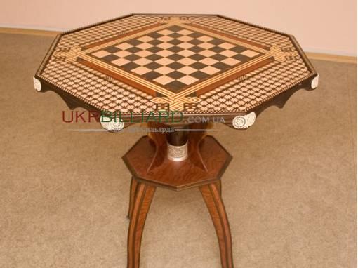 Шахматный стол ручной работы фото 1